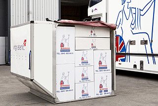Britannia Robbins airfreight containerisation