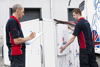 Britannia Robbins airfreight container check