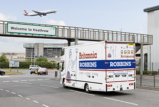 Britannia Robbins airfreight removals lorry